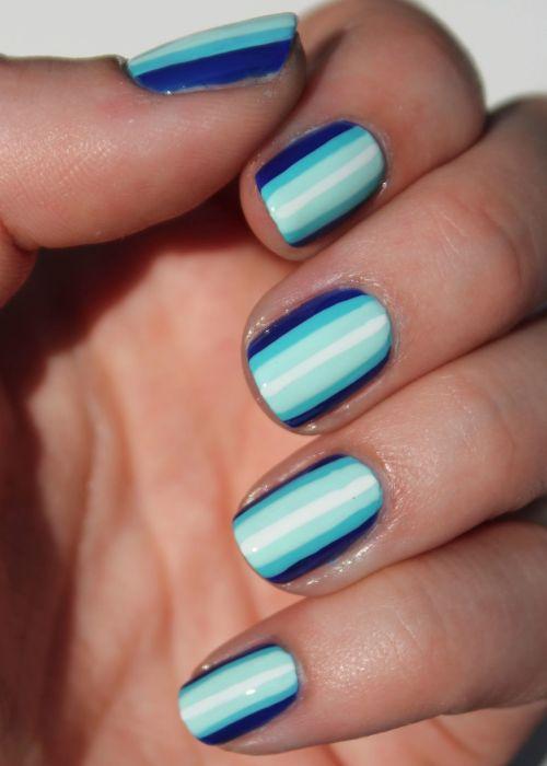 Top Come fare una nail art a righe sfumate RG72