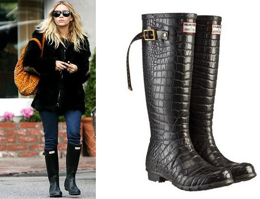 Hunter Women's Original Classic Glossy Rain Boots - Turquoise