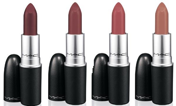 Le quattro nuove tonalità di Mac Lipstick della Mac Semi-Precious Collection
