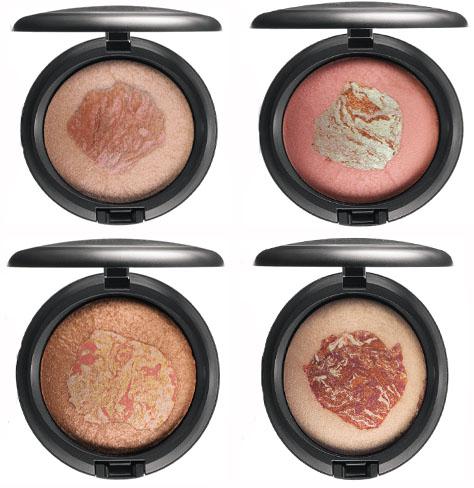 Le quattro nuove tonalità di Mac Mineralize Skinfinish della Mac Semi-Precious Collection